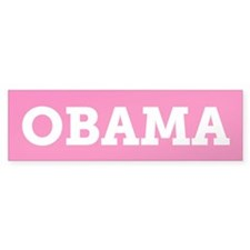 Obama (Pink) Bumper Sticker