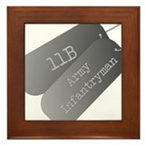 11B infantryman Framed Tile