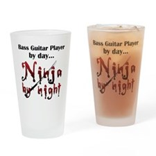 Bass Guitar Ninja Drinking Glass
