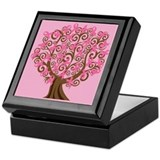 Breast Cancer Pink Ribbon Tree Gift Keepsake Box