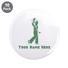 """Personalized Golf 3.5"""" Button (10 pack)"""
