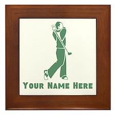Personalized Golf Framed Tile