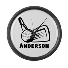 Personalized Golf Large Wall Clock