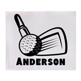 Personalized Golf Throw Blanket