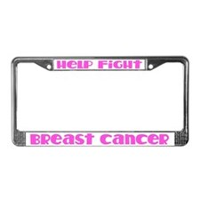 Fight Breast Cancer License Plate Frame