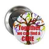 "Together we can find a CURE 2.25"" Button"
