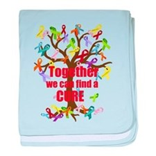 Together we can find a CURE baby blanket