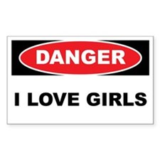 Danger - I love Girls Decal