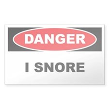 Danger - I Snore Decal