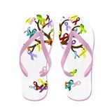Ribbon Tree Flip Flops
