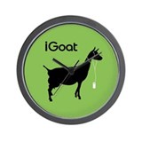 iGoat-green Wall Clock