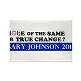 Gary Johnson 2012 - Change Rectangle Magnet