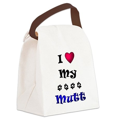 lovemymutt.png Canvas Lunch Bag