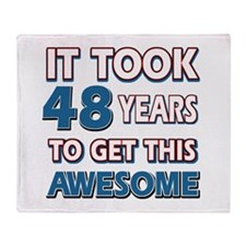 48 Year Old birthday gift ideas Throw Blanket
