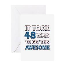 48 Year Old birthday gift ideas Greeting Card