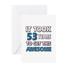 53 Year Old birthday gift ideas Greeting Card