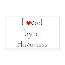 lovedhavanese.png Rectangle Car Magnet
