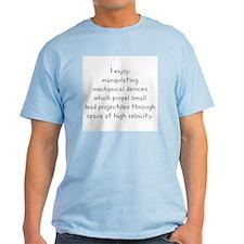 I enjoy T-Shirt/gray text