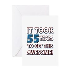 55 Year Old birthday gift ideas Greeting Card