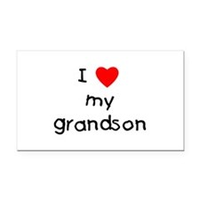 lovemygrandson.png Rectangle Car Magnet