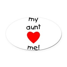 auntlovesme.png Oval Car Magnet