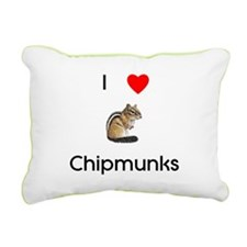 lovechipmunks.png Rectangular Canvas Pillow