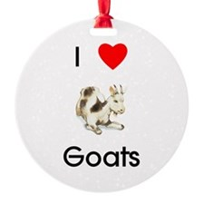 I Love Goats Ornament