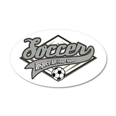 Soccer Respect 35x21 Oval Wall Decal