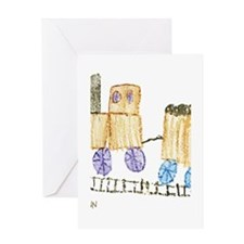 Choo Choo Train by Madilynn Greeting Card