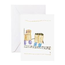 Choo Choo Train in a box by Madiynn Greeting Card
