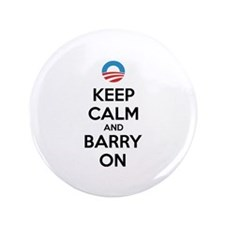 "Keep calm and barry on 3.5"" Button (100 pack)"