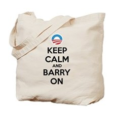Keep calm and barry on Tote Bag