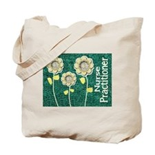 Nurse Practitioner Flowers Tote Green.JPG Tote Bag
