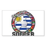 Uruguay Flag World Cup Soccer Ball with World Flag