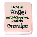 I HAVE AN ANGEL GRANDPA.png baby blanket