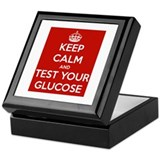 Diabetes Keep Calm Keepsake Box