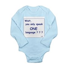 Only One Language Sigh Onesie Romper Suit