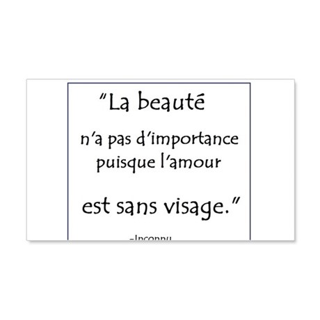 L'amour Sans Visage 20x12 Wall Decal