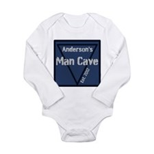 Personalized Man Cave Long Sleeve Infant Bodysuit