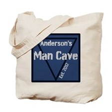 Personalized Man Cave Tote Bag