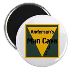 "Personalized Man Cave 2.25"" Magnet (10 pack)"