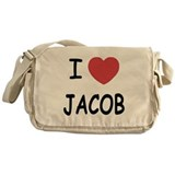 i heart jacob Messenger Bag