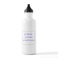 je chante je danse je parle français Water Bottle