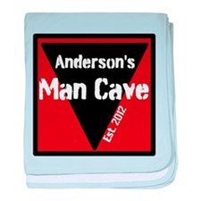 Personalized Man Cave baby blanket