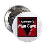"Personalized Man Cave 2.25"" Button"