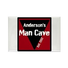 Personalized Man Cave Rectangle Magnet (100 pack)