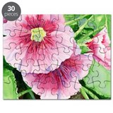 Pink Hollyhocks Puzzle