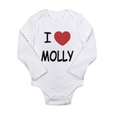 i heart molly Long Sleeve Infant Bodysuit
