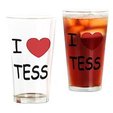 i heart tess Drinking Glass
