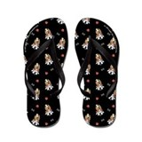 Bassets Bones n Paws Black Flip Flops